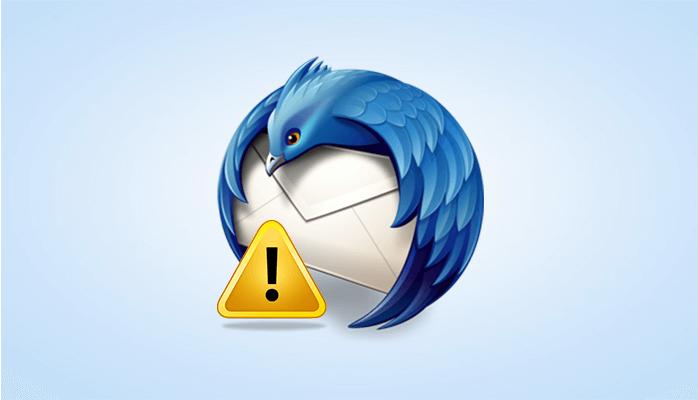 Troubleshoot - Mozilla Thunderbird problems sending emails Error