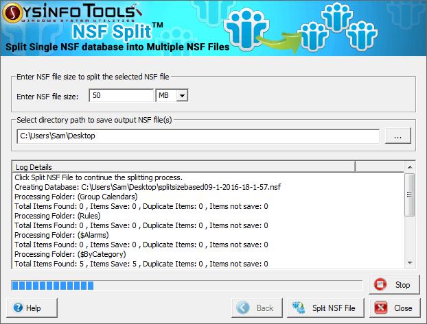 Split NSF file Lotus Notes using NSF Split