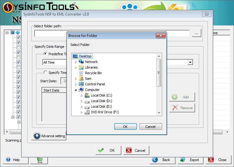 Best NSF to EML Converter tool full screenshot